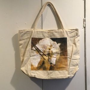 Handbags - Lined canvas tote-style bag